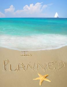 I planned written in sand