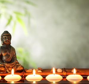 Buddha and candles