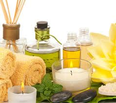 Skincare Ingredients and candles
