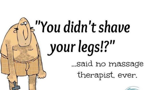 """You didn't shave your legs?!"" graphic"